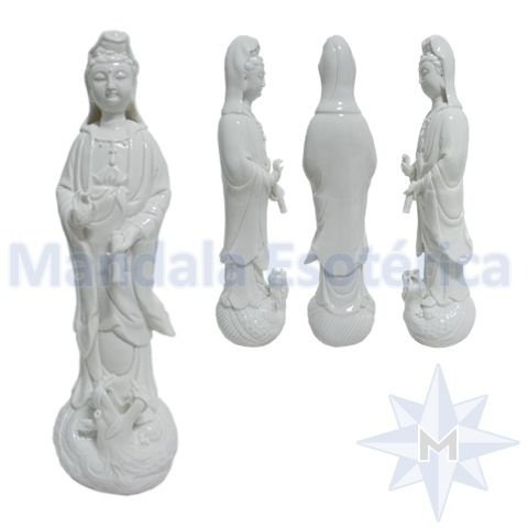 Kuan Yin em Porcelana cura de todos males Média