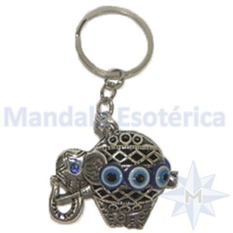 Chaveiro com olho grego Elefante Bola