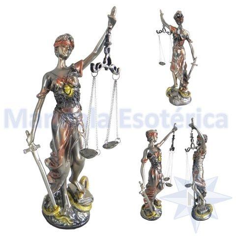 Dama da Justiça em Resina Bronze