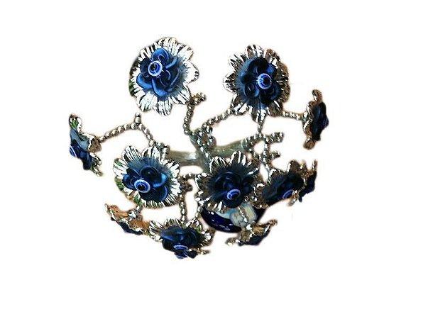 Arvore Base de Olho Grego Flor Azul