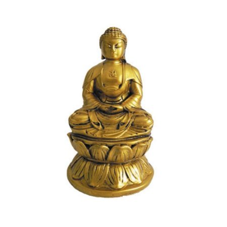 Buda dourado com Cruz Suástica  pequeno