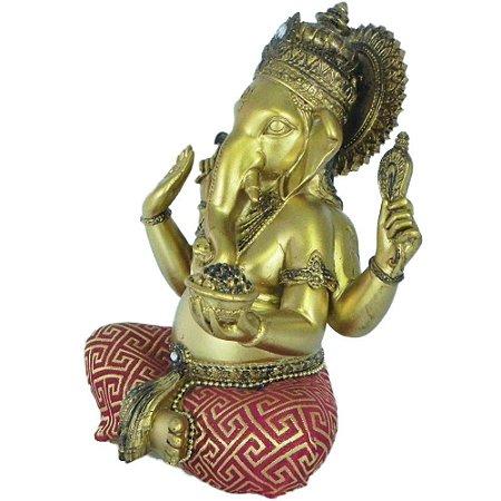 Ganesha Ouro Vermelho