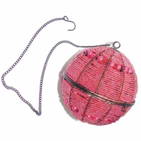 Porta Vela Suspenso com miçanga rosa