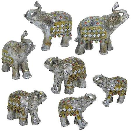 Kit elefantes prata
