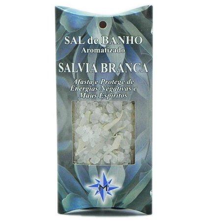 Sal de banho aromatizado - Sálvia Branca