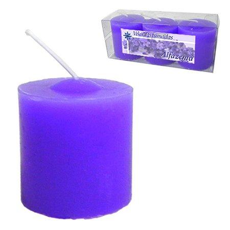Kit 3 Velas Perfumadas de 1 dia - Aroma Alfazema