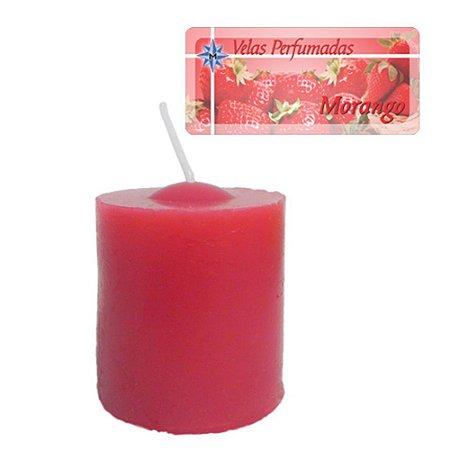 Kit 3 Velas Perfumadas de 1 dia - Aroma Morango
