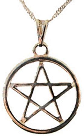 Gargantilha Pentagrama com aro