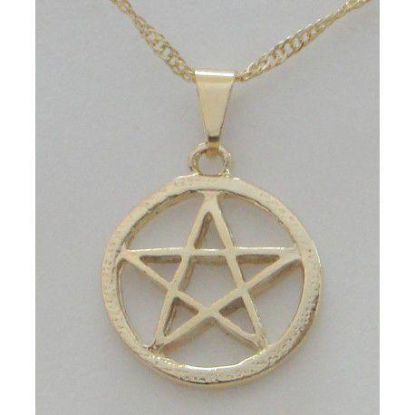 Gargantilha Pentagrama com aro 17mm