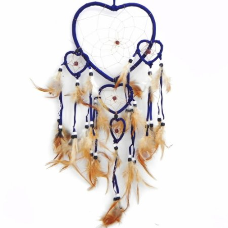 Filtro do Sonhos 5 corações -Azul