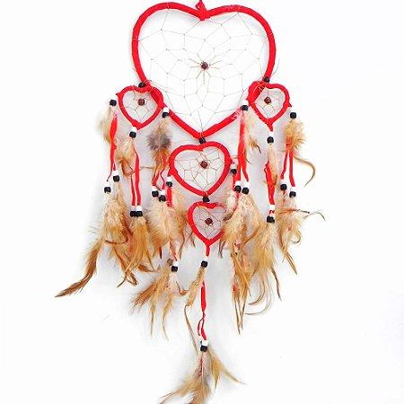Filtro do Sonhos 5 corações -Vermelho