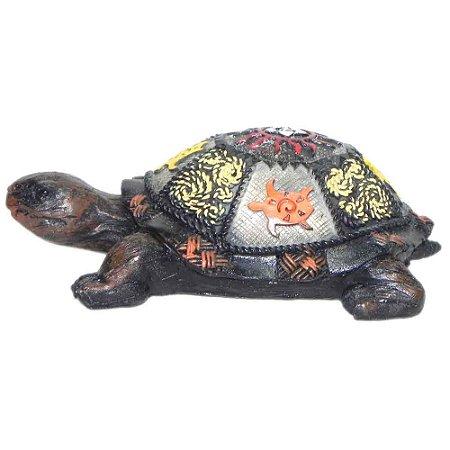 Tartaruga Colorida de Resina
