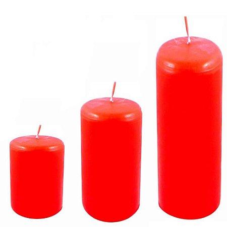 Kit com 3 velas para decoração vermelha