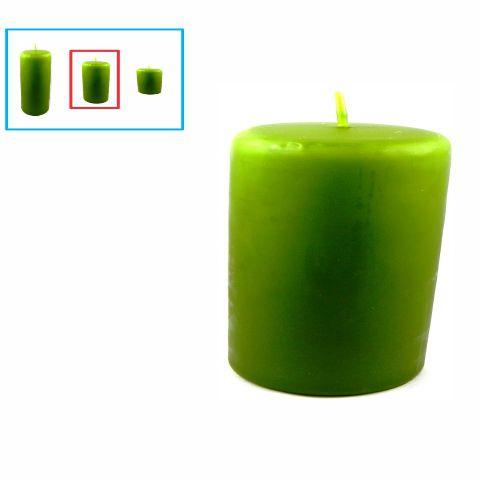 Velas para decoração média, verde