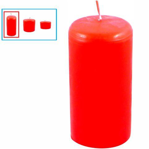 Vela para decoração grande, vermelha