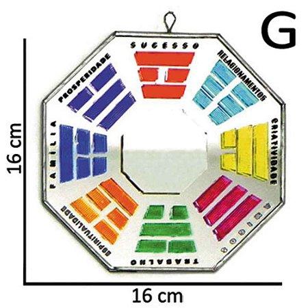Bá-guá Vidro Espelhado colorido G