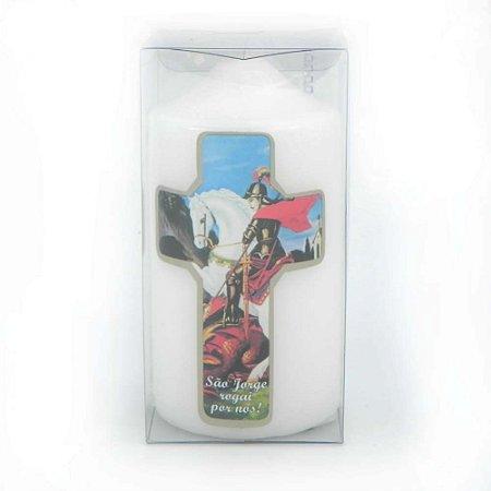 Vela de Devoção Cruz São Jorge 140g