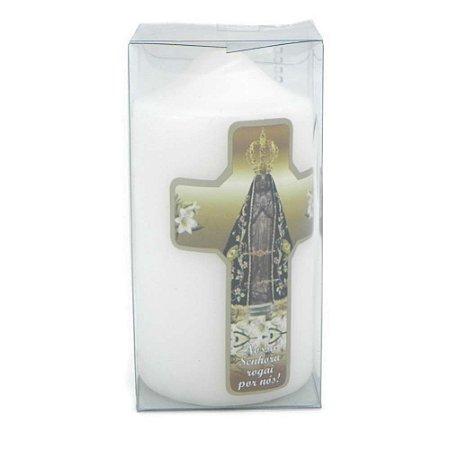 Vela de Devoção Cruz Nossa Senhora Aparecida 140g