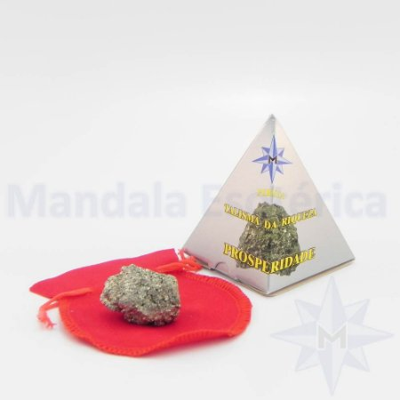Talismã pedra da fortuna Pirita