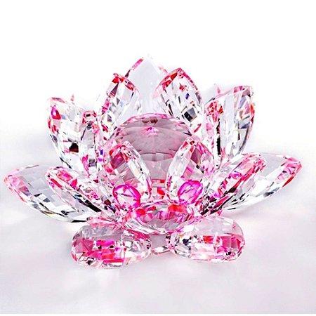 Flor de Lótus Cristal - Rosa