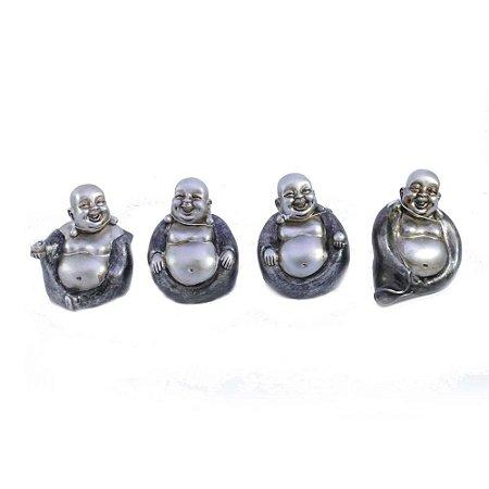 Conjunto de Budas em Resina 4 modelos