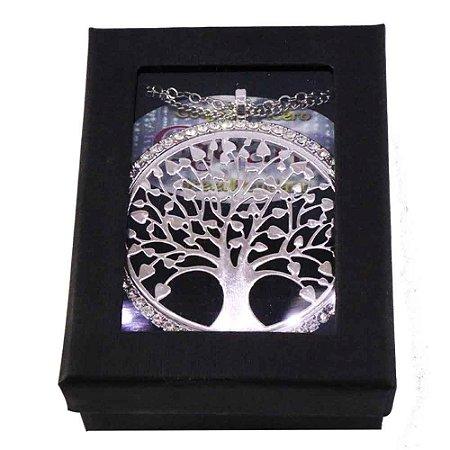 Gargantilha Árvore da Vida com pedras de strass