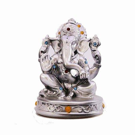 Ganesha prata com strass
