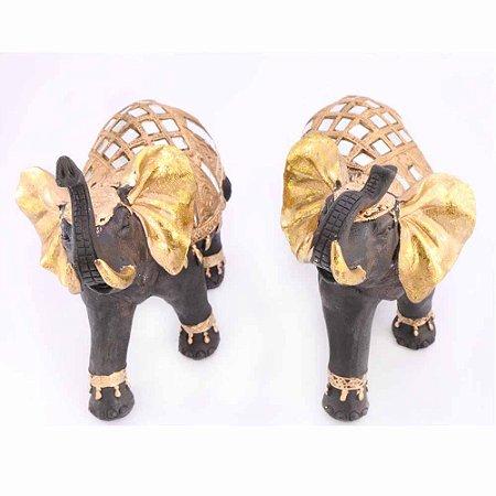Casal de Elefante dourado