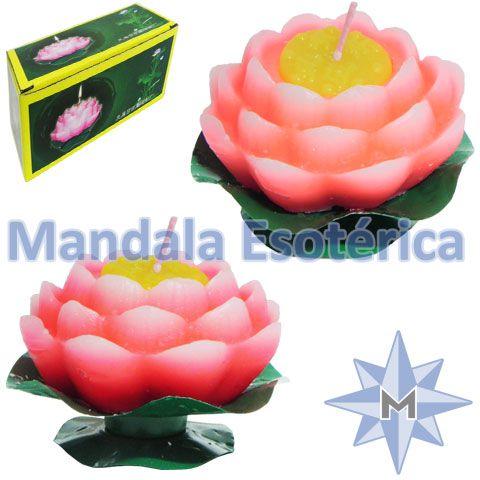 Vela flutuante Flor de lótus Média Cx com 2
