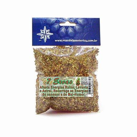Banho 7 Ervas pacote com 50 gramas