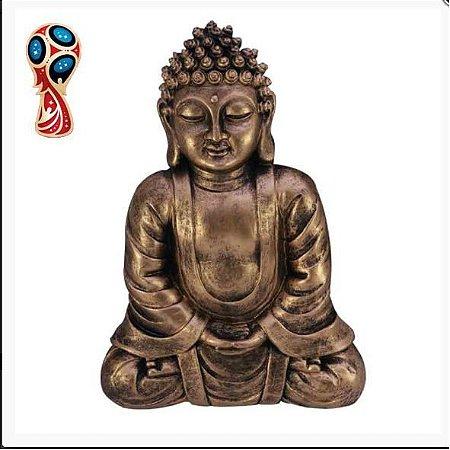 Buda Para Parede Dourado