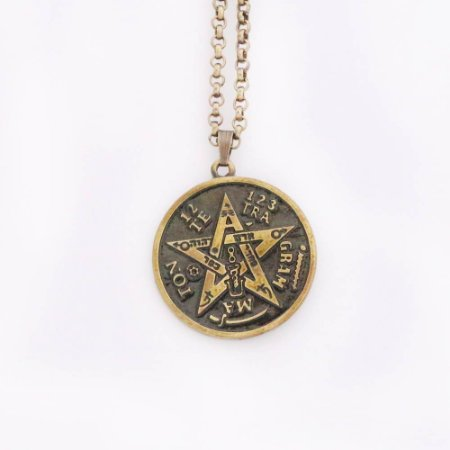 Gargantilha Tetragrama - Ouro Velho