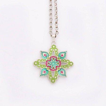 Gargantilha Mandala Formato De Flor