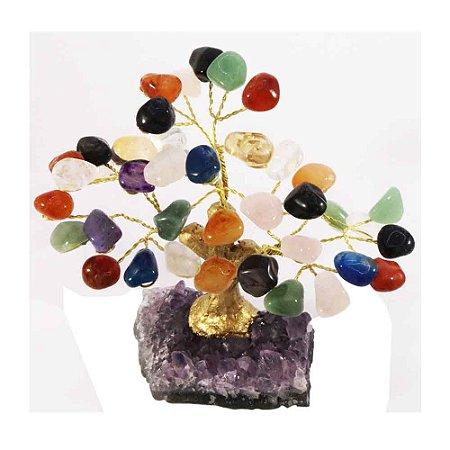 Árvore De Pedras Diversas - Base: Drusa Ametista