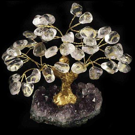 Árvore De Pedra Cristal - Base: Drusa Ametista