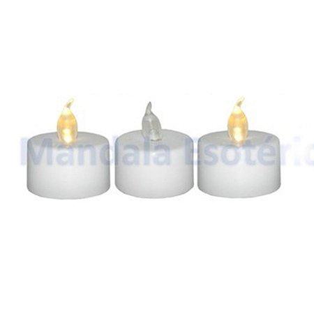 """Velas de LED """"G"""" com 3 Unidades"""