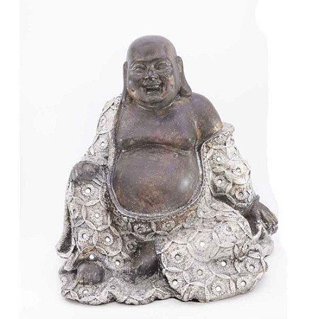 Buda de Resina Prateado