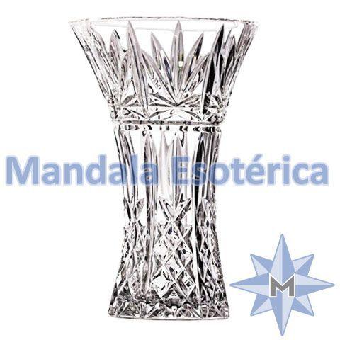 Vaso Cristal Arabescos Simétricos Médio