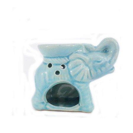 Rechô de Cerâmica com Formato de Elefante - Azul Claro