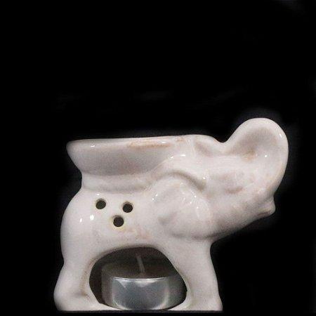 Rechô de Cerâmica com Formato de Elefante - Bege