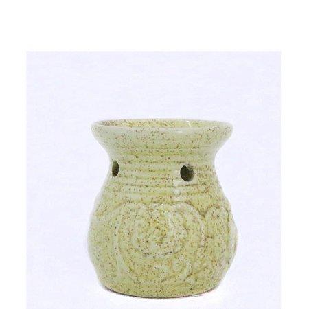 Rechô de Cerâmica com Flores em Relevo - Amarelo