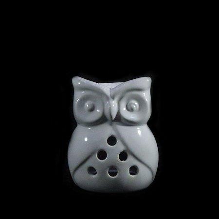 Rechô de Cerâmica de Coruja - Branco