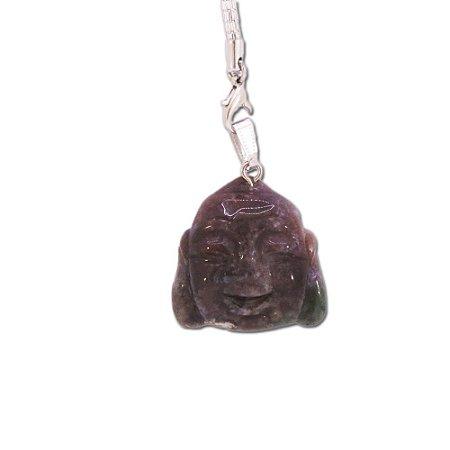 Pingente de Buda em Ágata Marrom Escuro