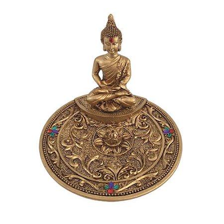 Incensário Buda Sidharta redondo