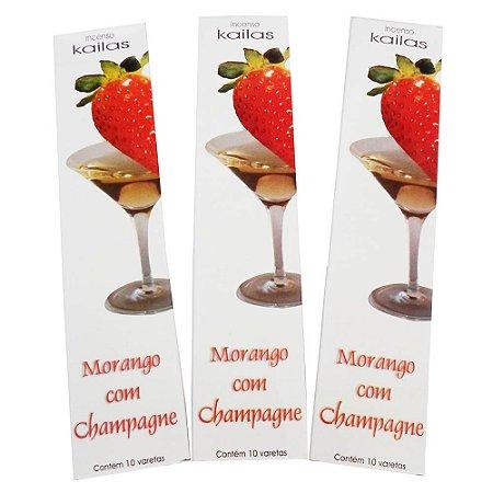Incenso Morango com Champagne Kailas