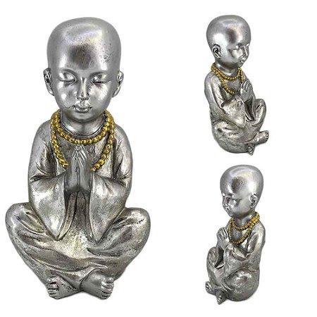 Monge Mantra Prata em resina - A