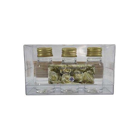 Mini Aromatizador com 3 - Rosa Branca