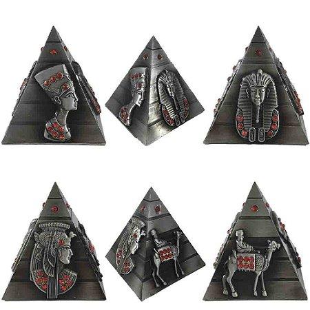Piramide Egípcia  Strass - Prateada