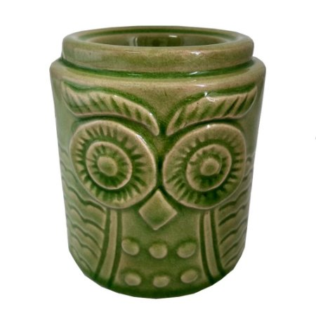 Rechô Desenho de Coruja de Cerâmica