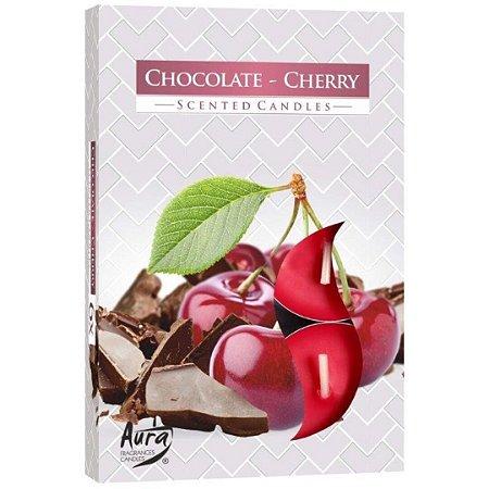 Vela T'Light Aroma Chocolate com Cereja